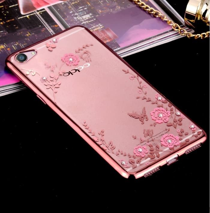 OPPO F1s A59 Motif Flower Silicone TPU Diamond Soft Case Sarung Cover OPPO .