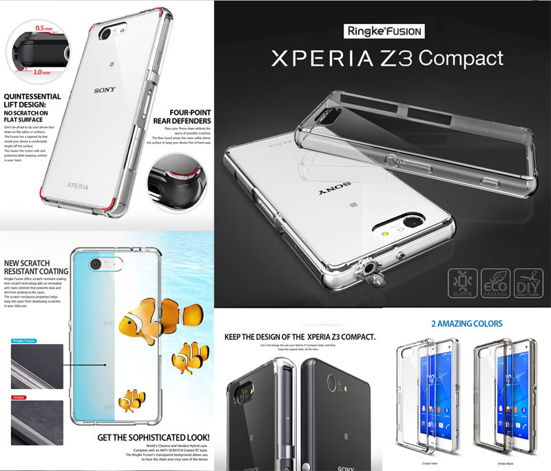 Ringke Fusion Case Sony Xperia Z3 Compact D5803