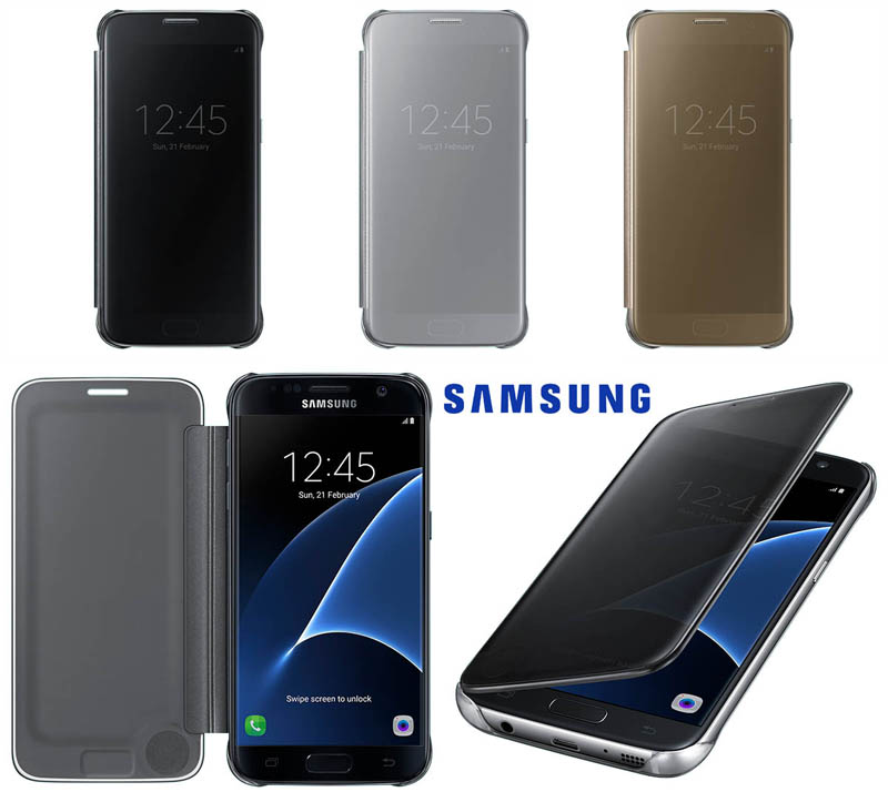 buy online 98a96 4662d Official Clear View Cover Case Samsung Galaxy S7 Edge