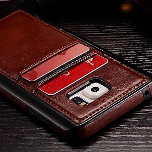 Samsung Galaxy NOTE 8 Card Slot Leather Soft Case Casing Cover Kulit